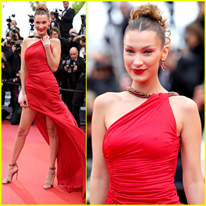 Bella Hadid Sizzles in Red Dress at Cannes Film Festival 2019
