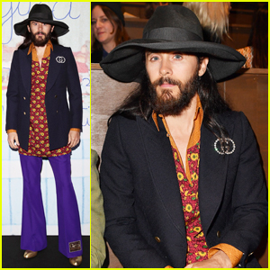 Jared Leto Rocks Colorful Outfit at Gucci Fashion Show in Milan!