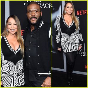 Mariah Carey Supports Tyler Perry at 'A Fall From Grace' Premiere in NYC!