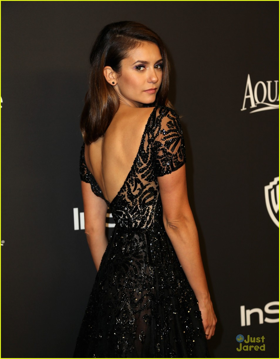 nina dobrev golden globes 2015 party 02
