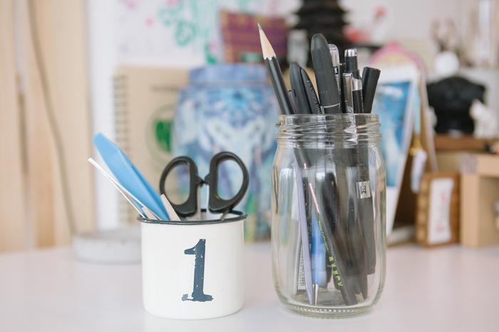 辦公桌收納筆筒