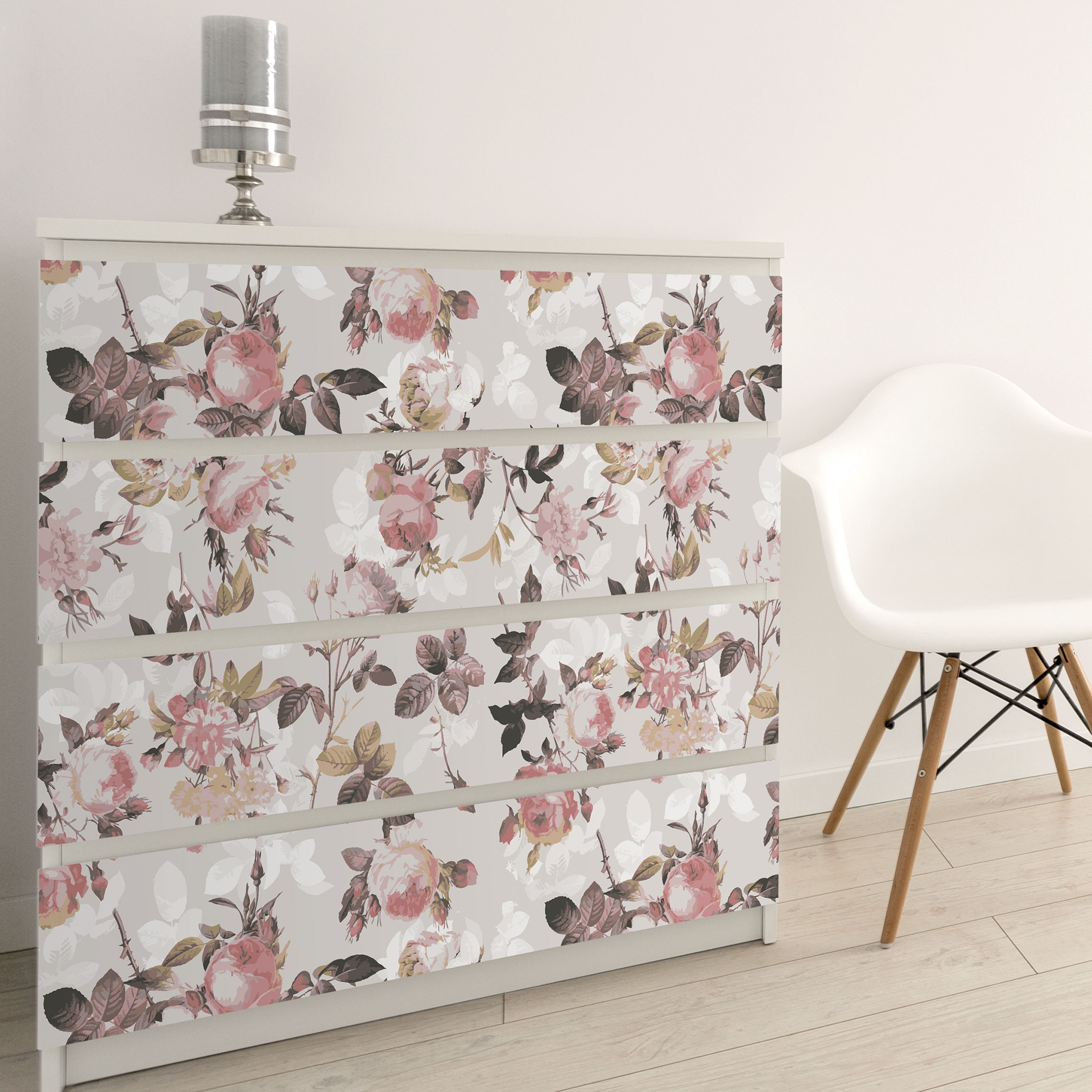 Carta Adesiva Per Mobili Vintage Floral Pattern With Roses