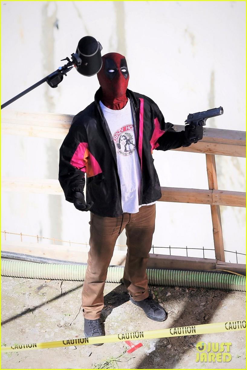 New Deadpool 2 Set Photo Featuring Wade Wilson & Blind Al 1