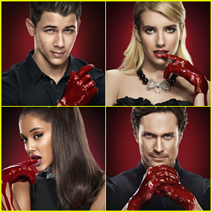 Nick Jonas & Emma Roberts Get Bloody In New 'Scream Queens' Posters