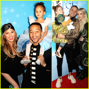 Chrissy Teigen & John Legend Take Daughter Luna to Disney on Ice!