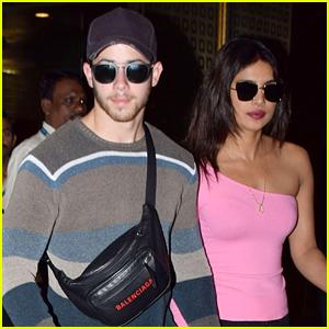 Nick Jonas & Priyanka Chopra Arrive Back in Mumbai