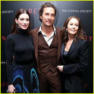Anne Hathaway & Matthew McConaughey Attend 'Serenity' NYC Screening!