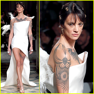 Asia Argento Walks the Runway for Antonio Grimaldi Show