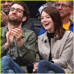 Emma Stone & Boyfriend Dave McCary Make Rare Public Outing for LA Clippers Game!
