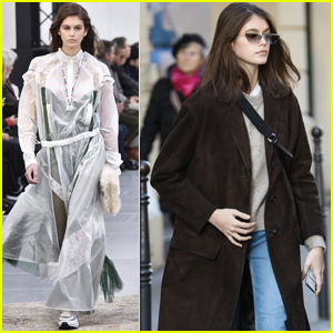 Kaia Gerber Hits the Runway For 'Sacai' Show During Paris Fashion Week