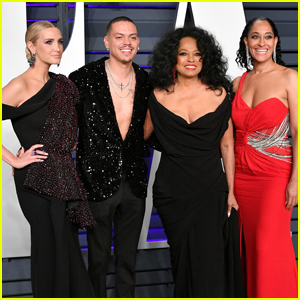 Diana Ross Joins Kids Tracee & Evan at Vanity Fair Oscars Party!