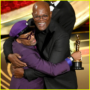 Spike Lee Celebrates First Oscars Win With Samuel L. Jackson!