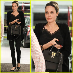 Angelina Jolie Heads to a Meeting in Beverly Hills