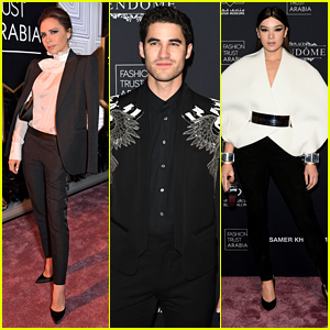 Victoria Beckham, Darren Criss, Hailee Steinfeld & More Step Out in Qatar for Fashion Trust Event