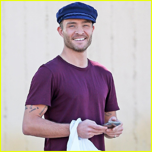 Ed Westwick is All Smiles at Lunch in L.A.