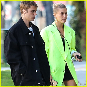 Justin & Hailey Bieber Look Fashionable Together in Beverly Hills