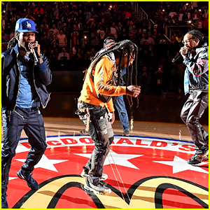 The Guys of Migos Perform Halftime Show at McDonald's All American Games