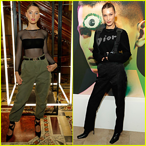 Iris Law Steps Out For Dior 'A Magazine' Party in London with Bella Hadid