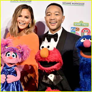 Chrissy Teigen & John Legend Step Out for Sesame Street 50th Anniversary Gala!