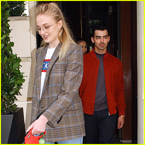 Sophie Turner & Joe Jonas Take Their Dog For a Walk in Paris