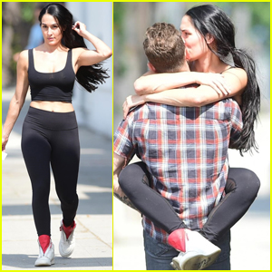 Nikki Bella Hops Into Boyfriend Artem Chigvintsev's Arms in Studio City!