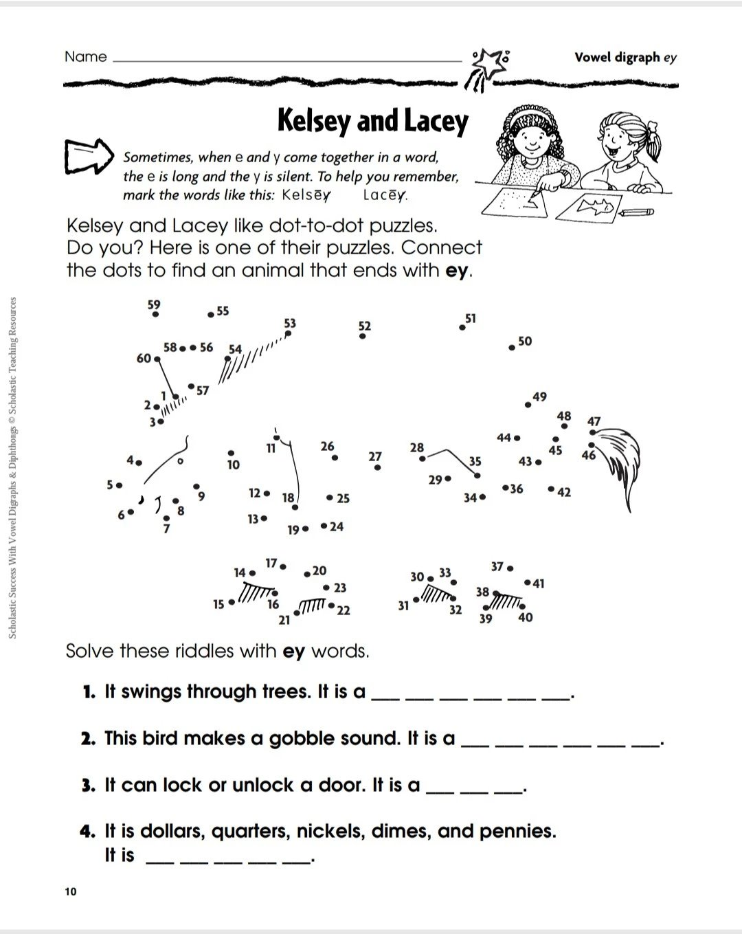 Scholastic 9 Success With Vowel Digraphs And Diphthongs K