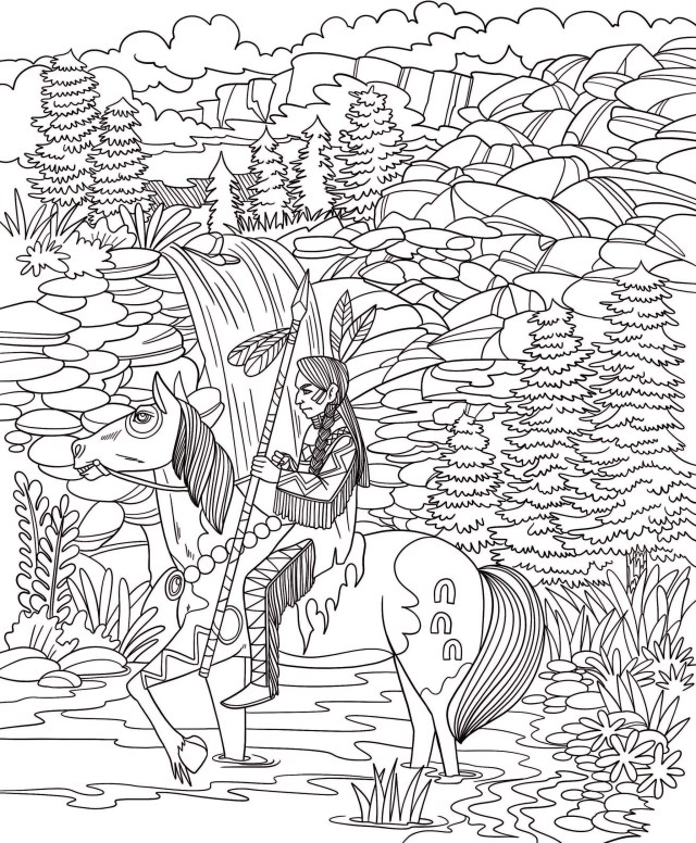 Freebie Friday 28-28-28 Native American Spirit Coloring Page