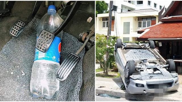 kecelakaan karena botol minum
