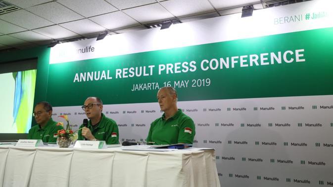 Paparan kinerja PT Asuransi Jiwa Manulife Indonesia (Manulife Indonesia) di Jakarta. Dok Manulife
