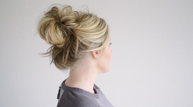 contoh model cara bikin cepol rambut ala korea terbaru