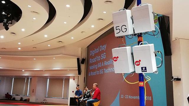 Acara uji coba jaringan 5G Indosat Ooredoo