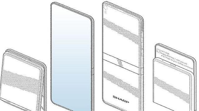 Paten ponsel lipat Sharp (Foto: Lets Go Digital via Phone Arena)