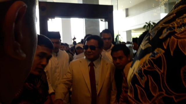 Bakal Calon Presiden Prabowo Subianto menghadiri Ijtima Ulama II