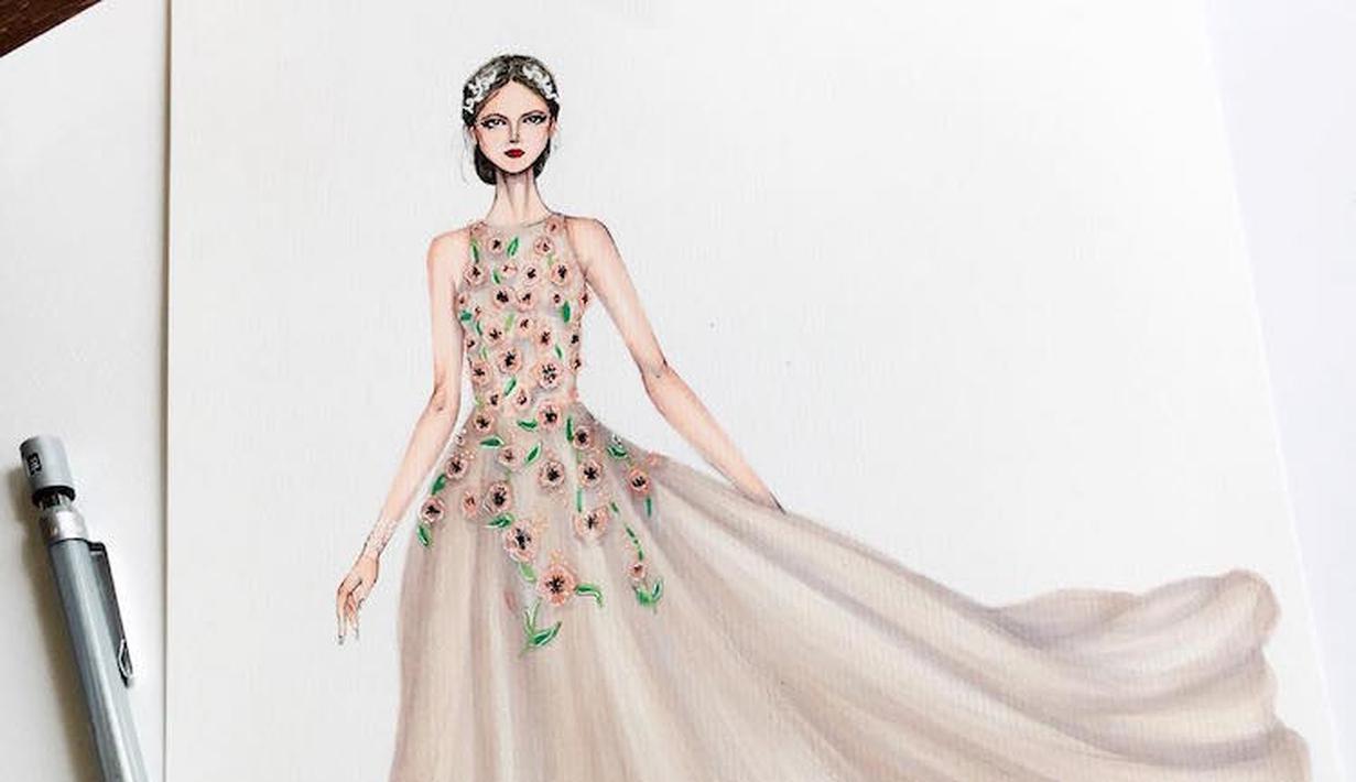 Kumpulan Mewarnai Gambar Sketsa Baju Barbie Desain