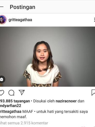 Gritte Agatha. (Foto: Instagram @gritteagathaa)