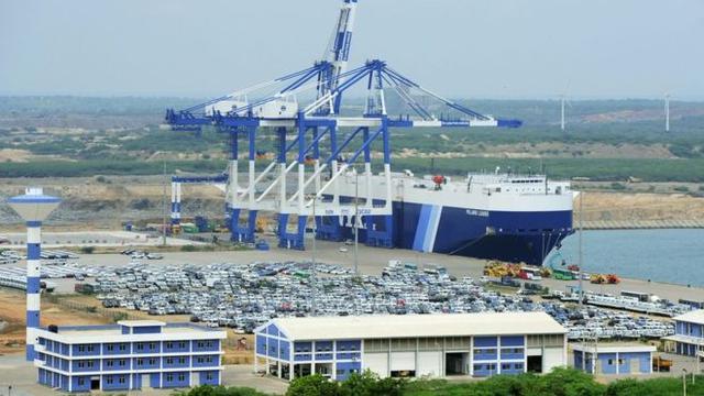Pelabuhan Hambantota di Sri Lanka. (AFP)