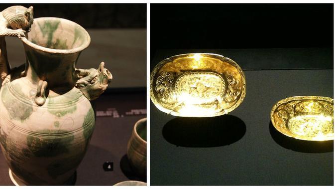 Harta karun yang ditemukan di dasar laut Belitung (Wikipedia)