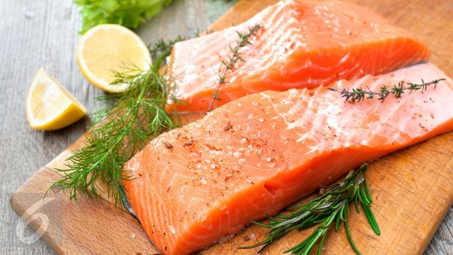 Ikan Salmon Daging Salmon
