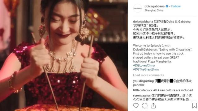Iklan Dolce & Gabbana yang dinilai kontroversial (kredit: supplied / Instagram)
