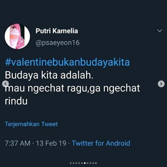 Valentine bukan budaya kita (foto: Twitter/@psaeyeon16)