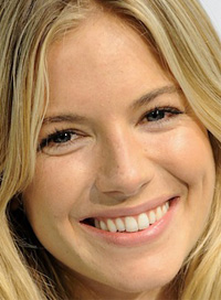 Sienna Miller no makeup look