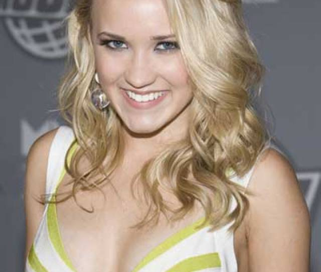 Emily Osment Sexy Wavy Brunette Hairstyle
