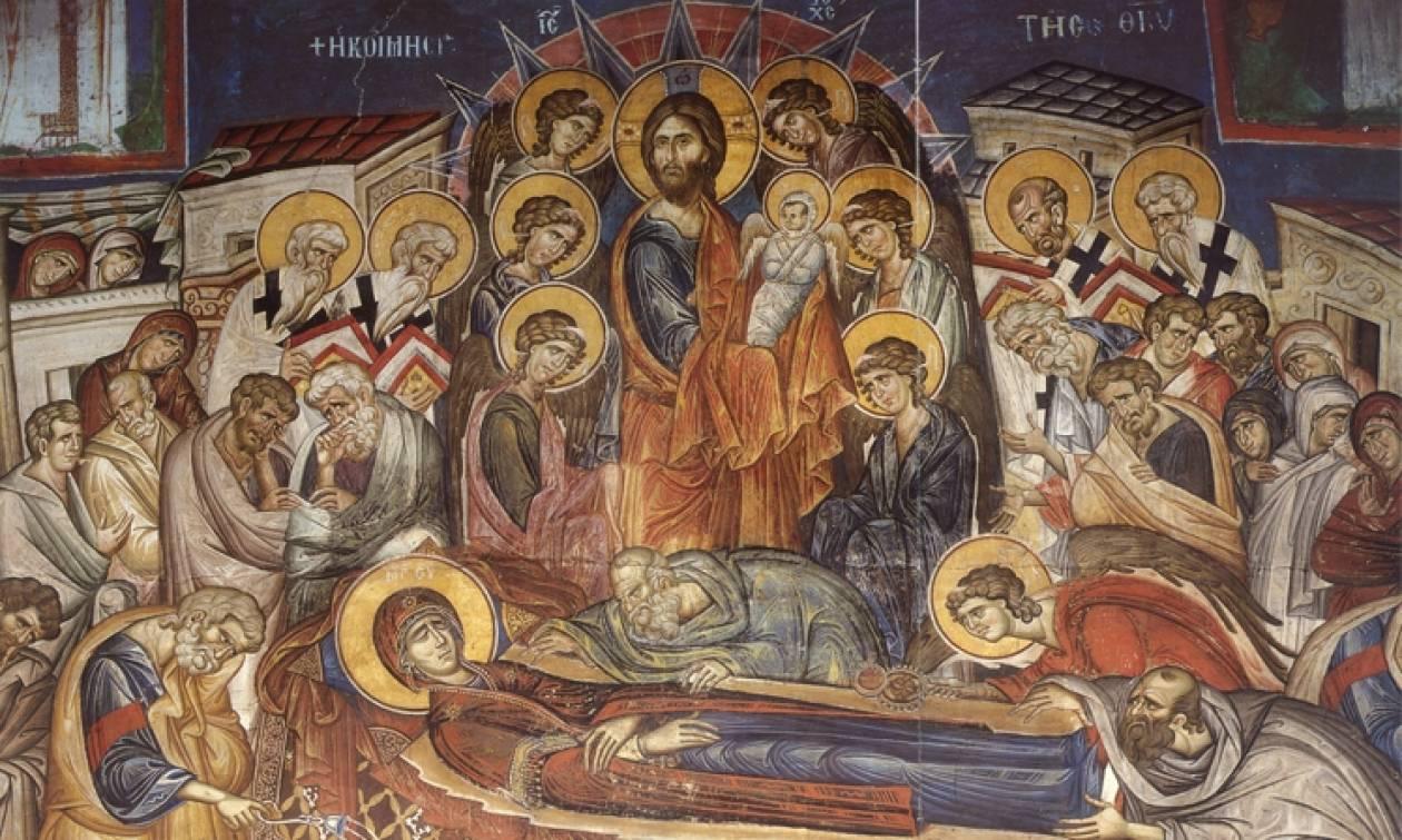 Αποτέλεσμα εικόνας για κοιμηση θεοτοκου