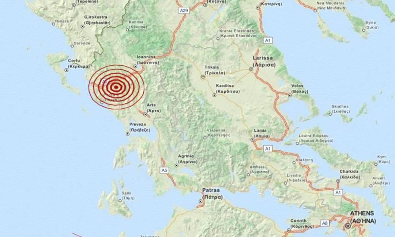Σεισμός 3,5 Ρίχτερ βορειοανατολικά της Πάργας