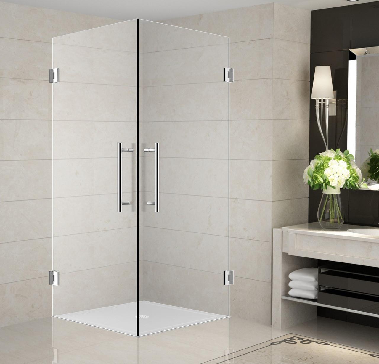 Sen989 Vanora Completely Frameless Double Door Square Shower