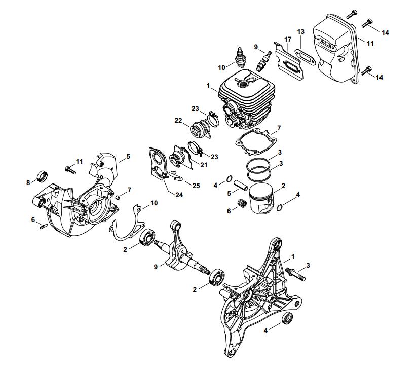 Engine Rebuild Kit  KitF | Stihl TS420 | 42380201202