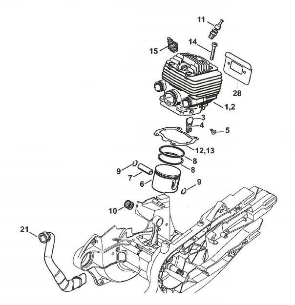 Cylinder Overhaul Kit  KitC | Stihl TS700, TS800 | 4224