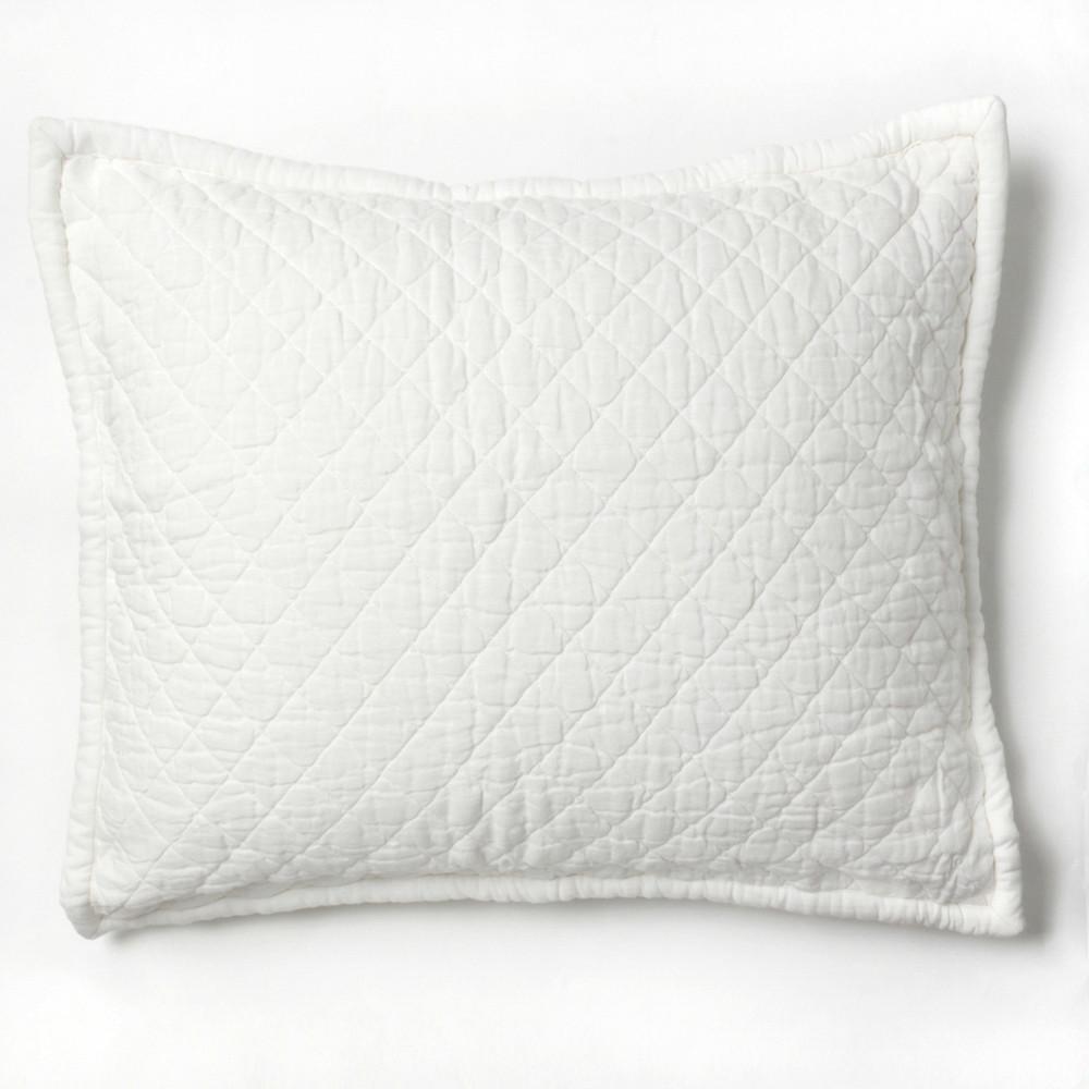 amity home dale linen dutch euro pillow white