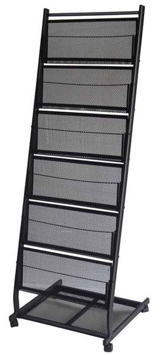 6 Pocket Mobile Literature Brochure Rack Or Magazine Stand Large Bh04