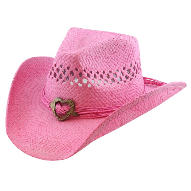 California Hat Company Pink Cowboy Hat With Heart Hats